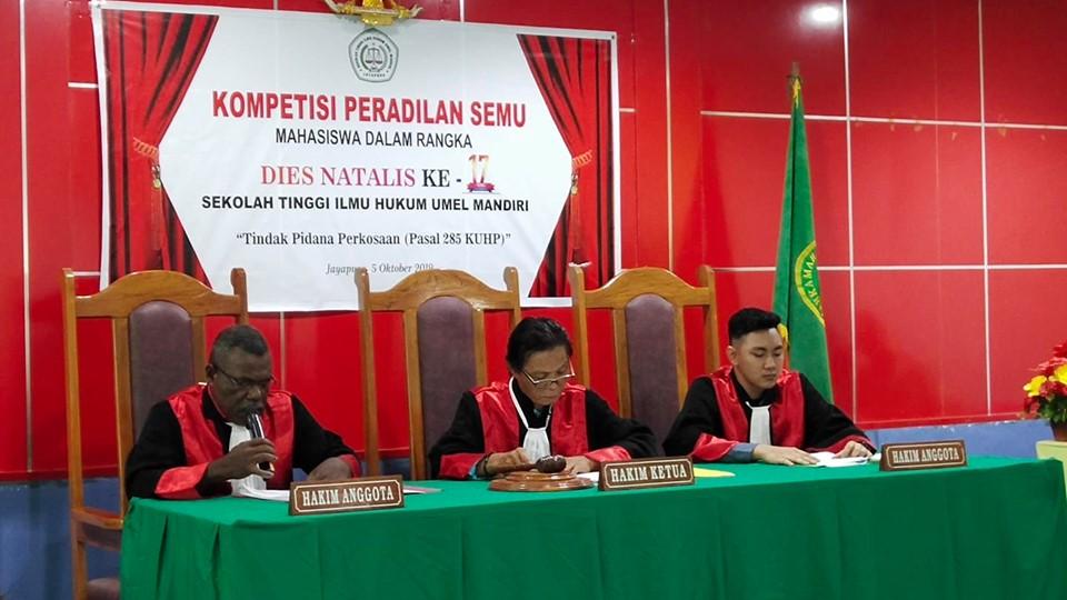 Sambut Dies Natalis ke -17 STIH Umel Mandiri adakan Kompetisi Peradilan Semu