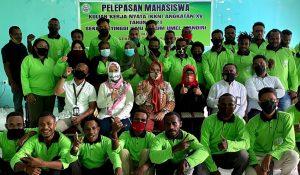 Pelepasan Mahasiswa KKN (Kuliah Kerja Nyata) STIH Umel Mandiri Jayapura 2021